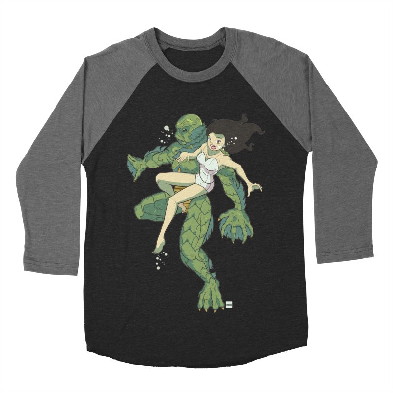 Creature From The Black Lagoon Women's Baseball Triblend Longsleeve T-Shirt by daab Creative's Artist Shop