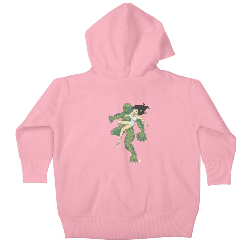 Creature From The Black Lagoon Kids Baby Zip-Up Hoody by daab Creative's Artist Shop