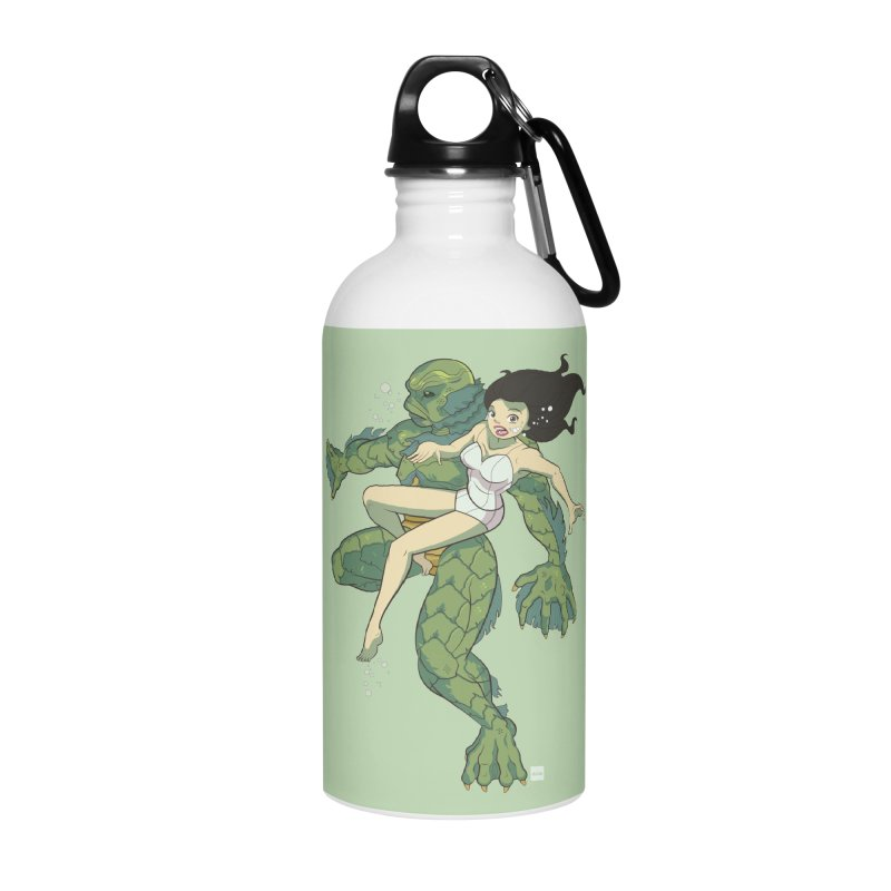 Creature From The Black Lagoon Accessories Water Bottle by daab Creative's Artist Shop