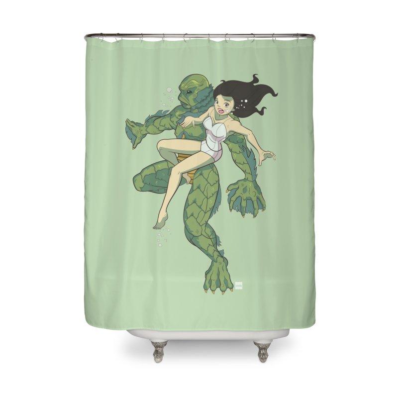 Creature From The Black Lagoon Home Shower Curtain by daab Creative's Artist Shop