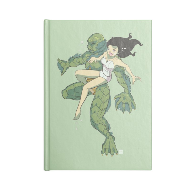 Creature From The Black Lagoon Accessories Lined Journal Notebook by daab Creative's Artist Shop