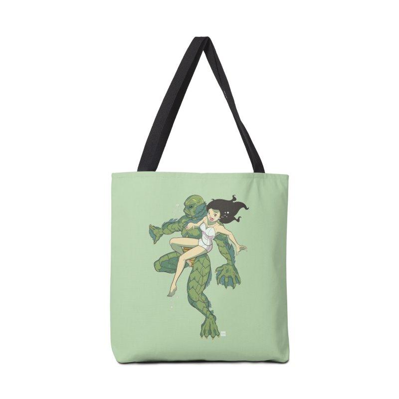 Creature From The Black Lagoon Accessories Tote Bag Bag by daab Creative's Artist Shop
