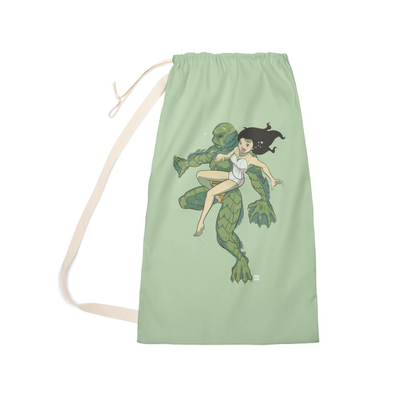 Creature From The Black Lagoon Accessories Laundry Bag Bag by daab Creative's Artist Shop