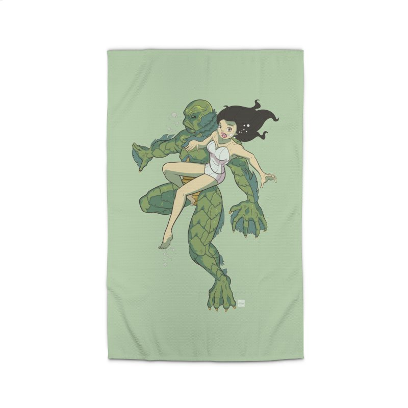 Creature From The Black Lagoon Home Rug by daab Creative's Artist Shop