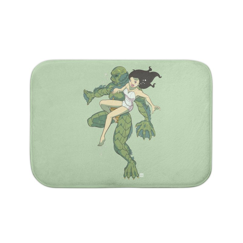 Creature From The Black Lagoon Home Bath Mat by daab Creative's Artist Shop