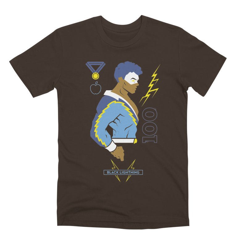 Black Lightning - DC Superhero Profiles Men's Premium T-Shirt by daab Creative's Artist Shop