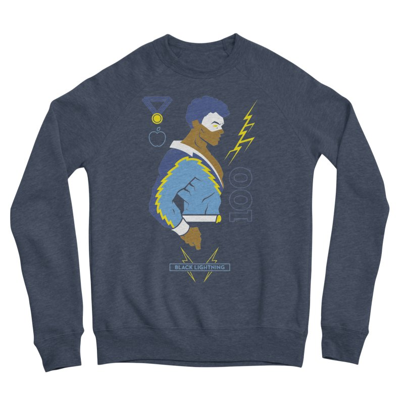 Black Lightning - DC Superhero Profiles Men's Sponge Fleece Sweatshirt by daab Creative's Artist Shop