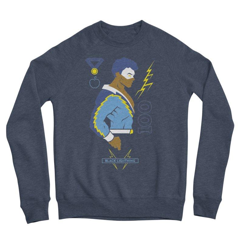 Black Lightning - DC Superhero Profiles Women's Sponge Fleece Sweatshirt by daab Creative's Artist Shop