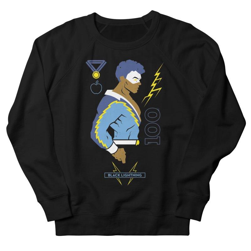 Black Lightning - DC Superhero Profiles Men's French Terry Sweatshirt by daab Creative's Artist Shop