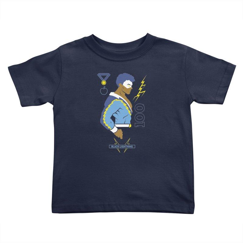 Black Lightning - DC Superhero Profiles Kids Toddler T-Shirt by daab Creative's Artist Shop