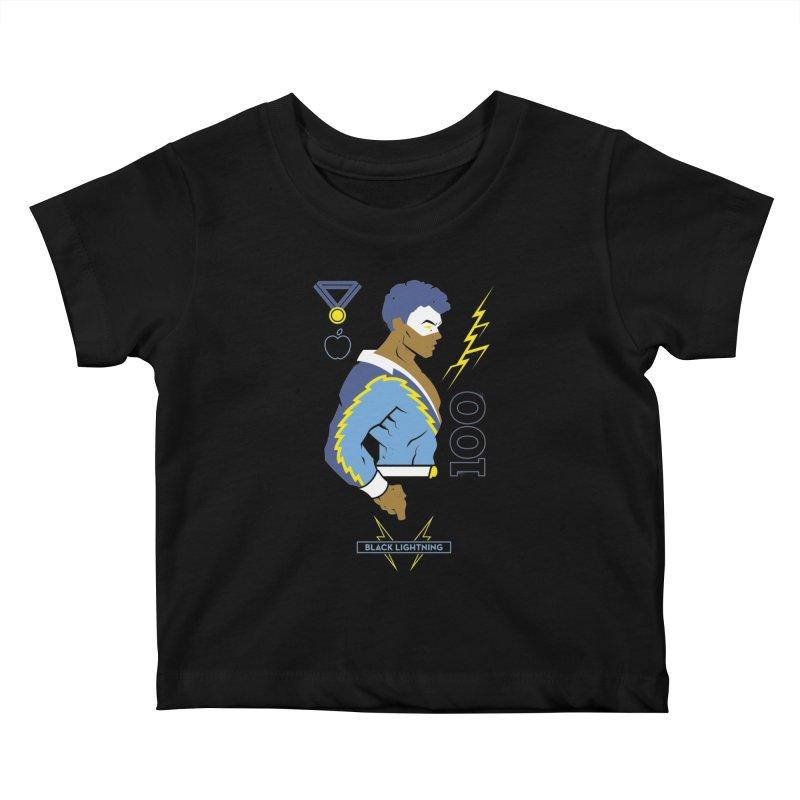 Black Lightning - DC Superhero Profiles Kids Baby T-Shirt by daab Creative's Artist Shop