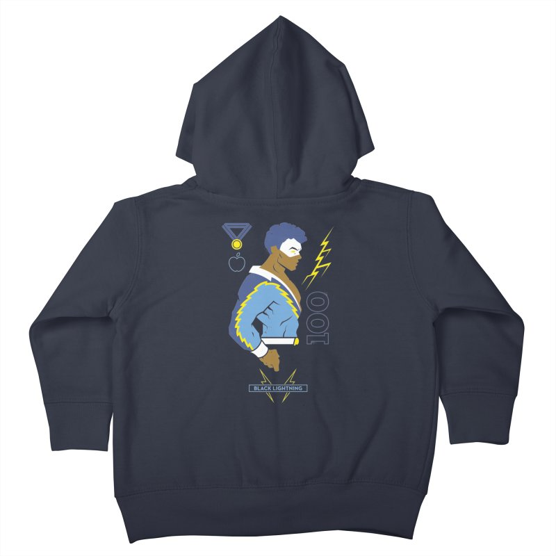 Black Lightning - DC Superhero Profiles Kids Toddler Zip-Up Hoody by daab Creative's Artist Shop