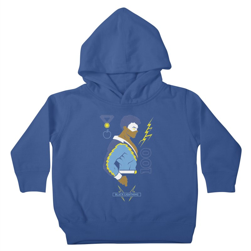 Black Lightning - DC Superhero Profiles Kids Toddler Pullover Hoody by daab Creative's Artist Shop
