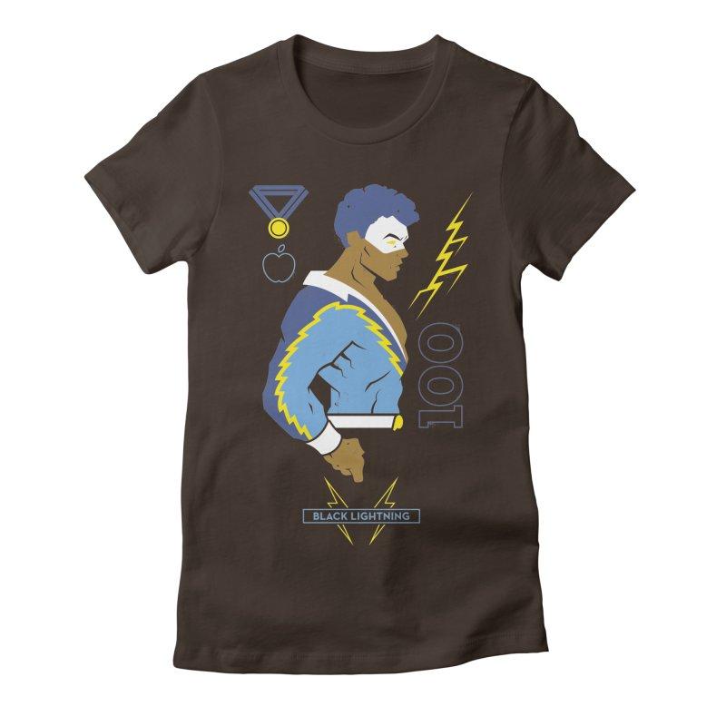 Black Lightning - DC Superhero Profiles Women's Fitted T-Shirt by daab Creative's Artist Shop