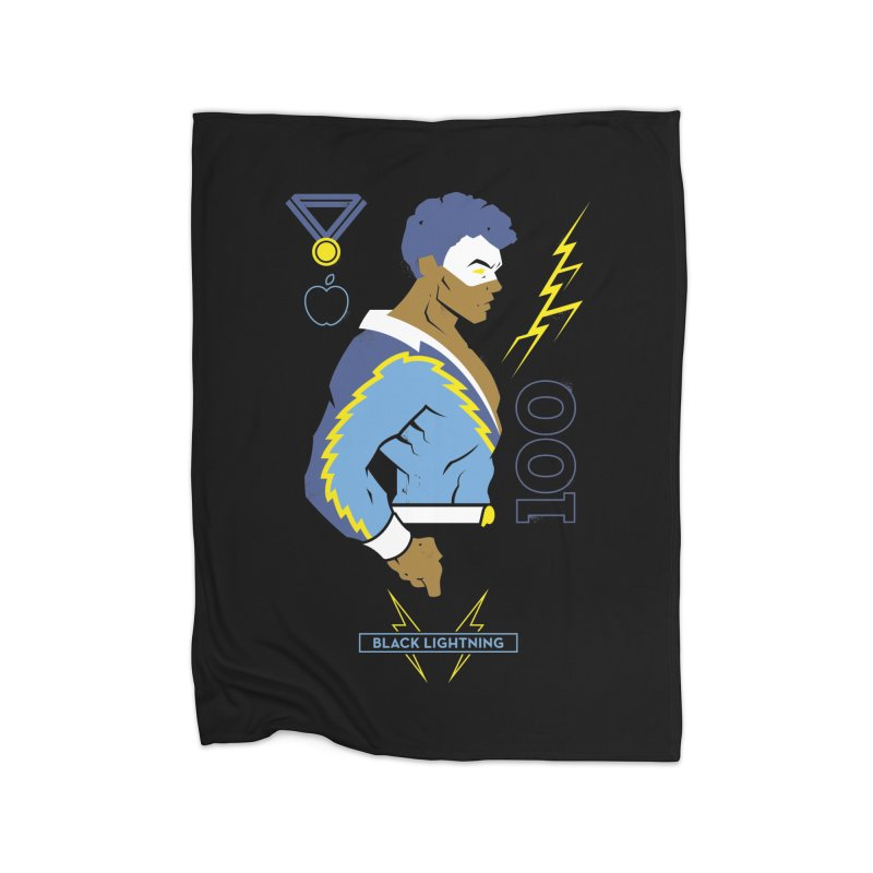 Black Lightning - DC Superhero Profiles Home Fleece Blanket Blanket by daab Creative's Artist Shop