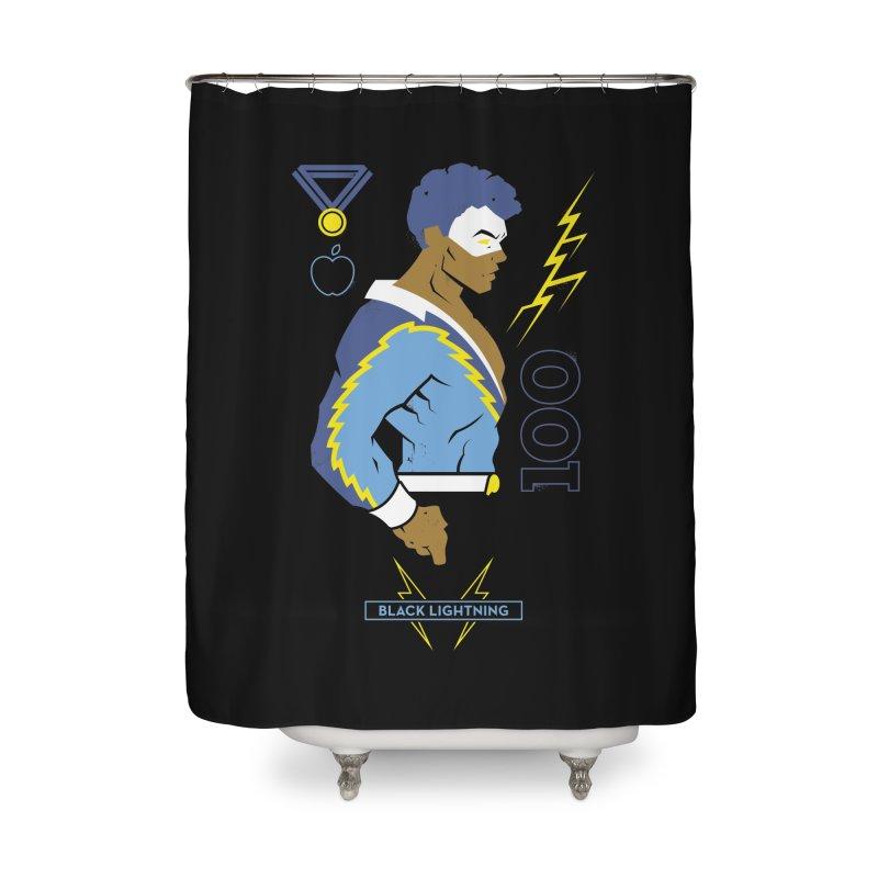 Black Lightning - DC Superhero Profiles Home Shower Curtain by daab Creative's Artist Shop