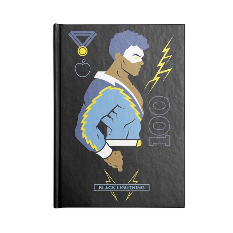 Black Lightning - DC Superhero Profiles Accessories Blank Journal Notebook by daab Creative's Artist Shop