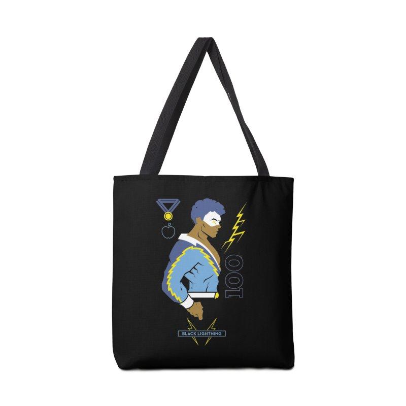 Black Lightning - DC Superhero Profiles Accessories Tote Bag Bag by daab Creative's Artist Shop