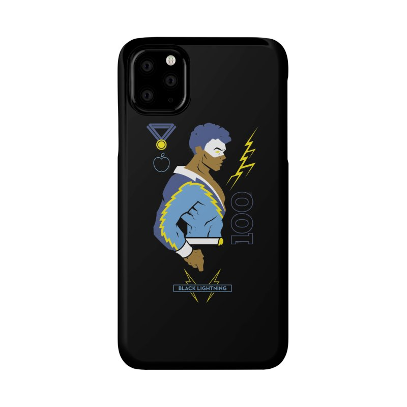 Black Lightning - DC Superhero Profiles Accessories Phone Case by daab Creative's Artist Shop