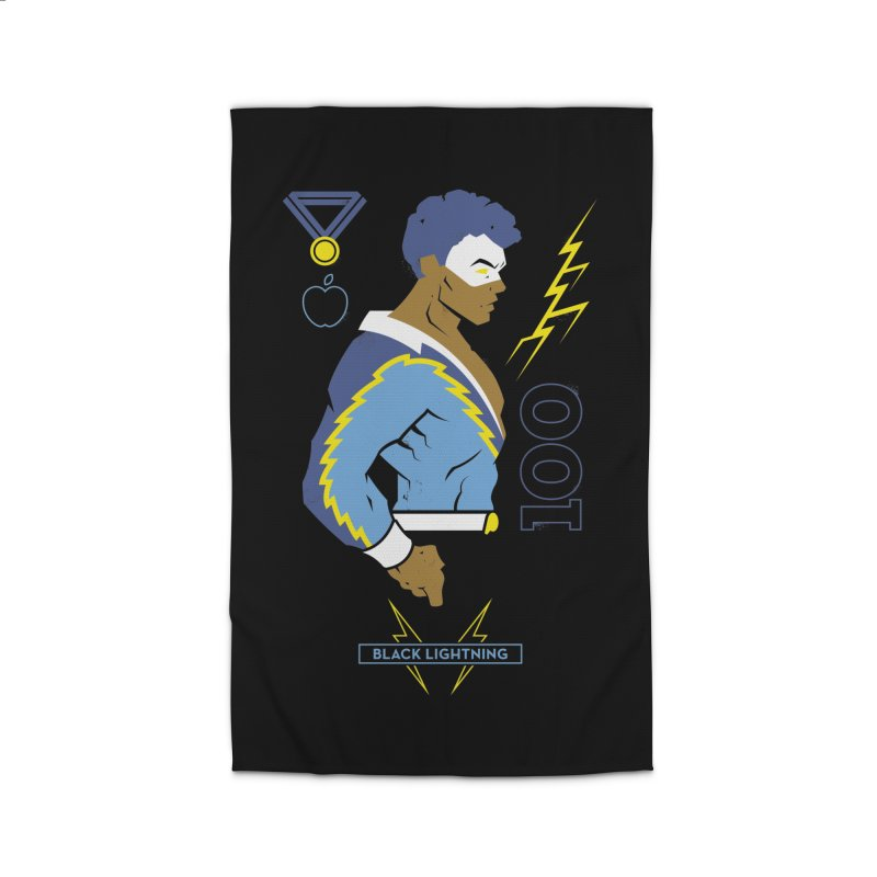 Black Lightning - DC Superhero Profiles Home Rug by daab Creative's Artist Shop
