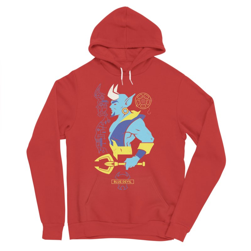 Blue Devil - DC Superhero Profiles Men's Sponge Fleece Pullover Hoody by daab Creative's Artist Shop