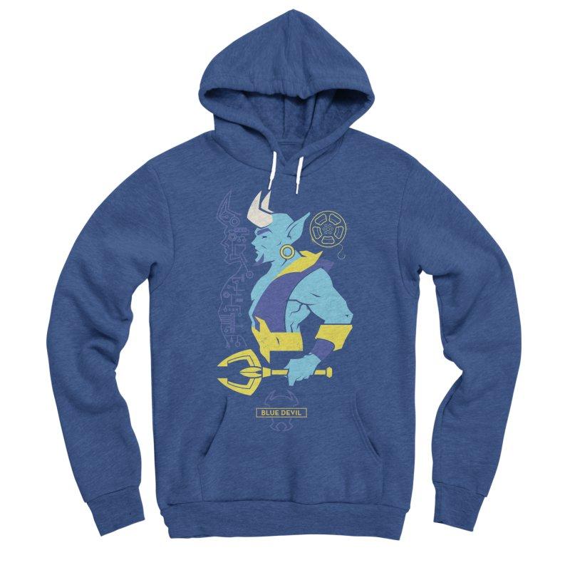 Blue Devil - DC Superhero Profiles Women's Sponge Fleece Pullover Hoody by daab Creative's Artist Shop
