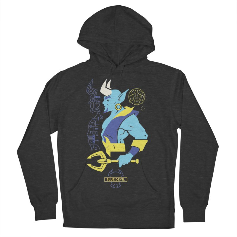 Blue Devil - DC Superhero Profiles Women's French Terry Pullover Hoody by daab Creative's Artist Shop