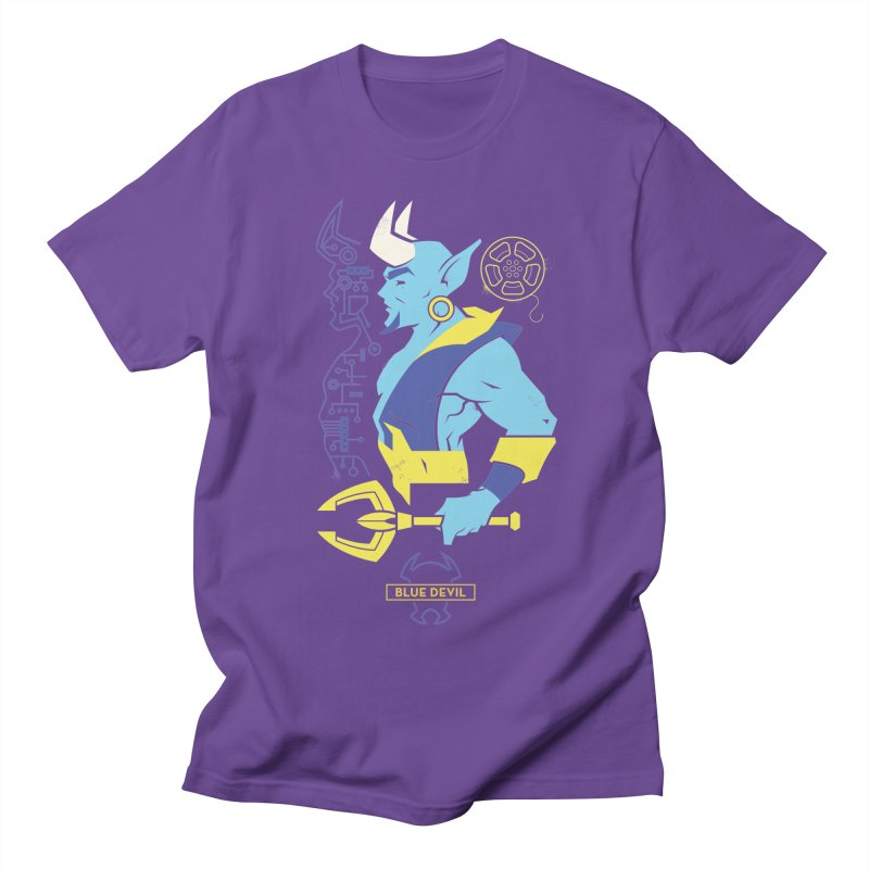 Blue Devil - DC Superhero Profiles Men's Regular T-Shirt by daab Creative's Artist Shop