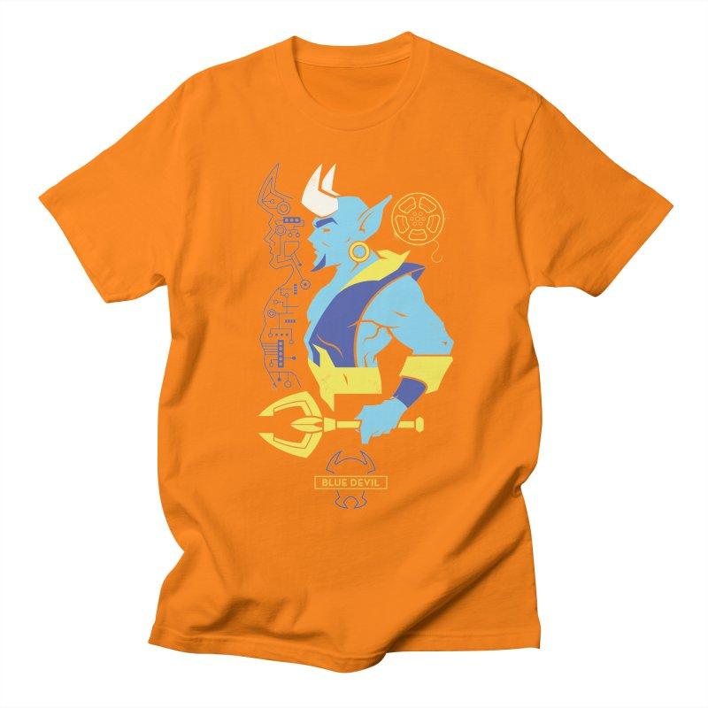 Blue Devil - DC Superhero Profiles Women's Regular Unisex T-Shirt by daab Creative's Artist Shop