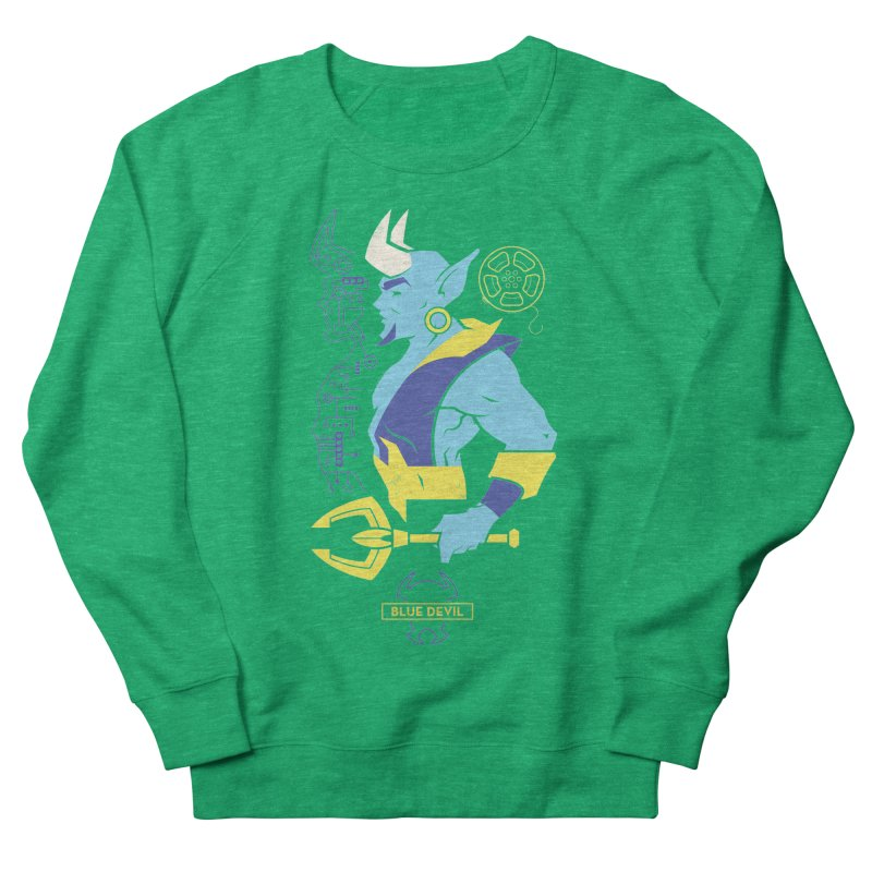 Blue Devil - DC Superhero Profiles Women's French Terry Sweatshirt by daab Creative's Artist Shop