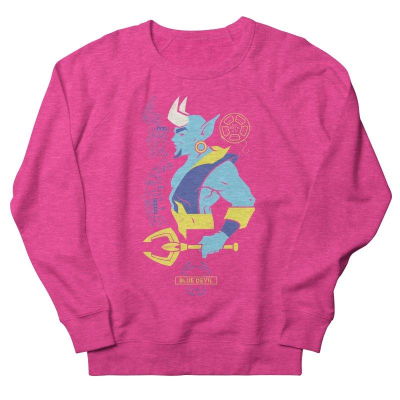Blue Devil - DC Superhero Profiles Women's French Terry Sweatshirt by daab Creative's Artist Shop