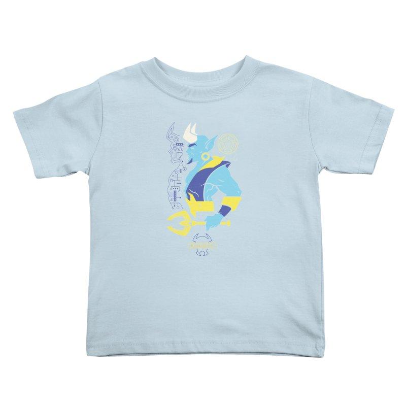 Blue Devil - DC Superhero Profiles Kids Toddler T-Shirt by daab Creative's Artist Shop