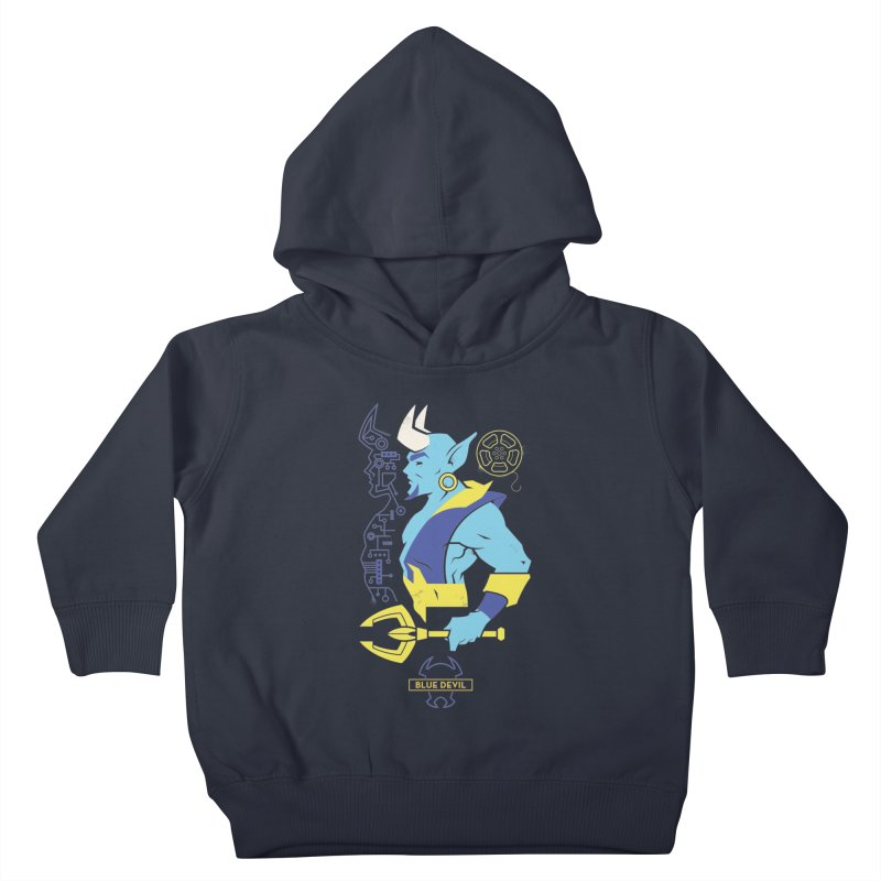 Blue Devil - DC Superhero Profiles Kids Toddler Pullover Hoody by daab Creative's Artist Shop