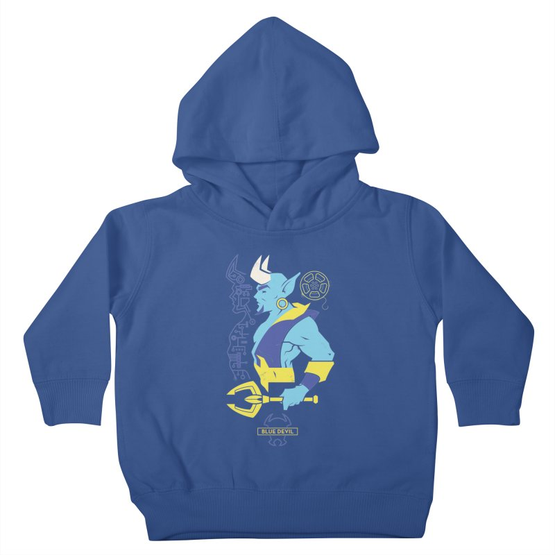Blue Devil - DC Superhero Profiles Kids Toddler Pullover Hoody by daab Creative's Artist Shop