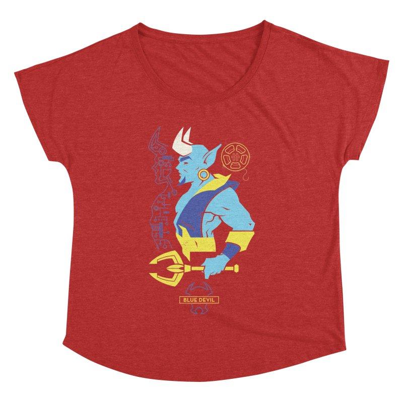 Blue Devil - DC Superhero Profiles Women's Dolman Scoop Neck by daab Creative's Artist Shop