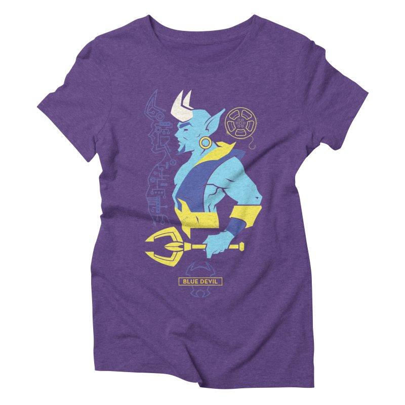 Blue Devil - DC Superhero Profiles Women's Triblend T-Shirt by daab Creative's Artist Shop