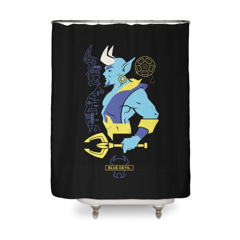 Blue Devil - DC Superhero Profiles Home Shower Curtain by daab Creative's Artist Shop