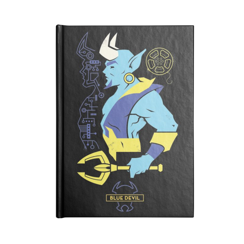 Blue Devil - DC Superhero Profiles Accessories Blank Journal Notebook by daab Creative's Artist Shop