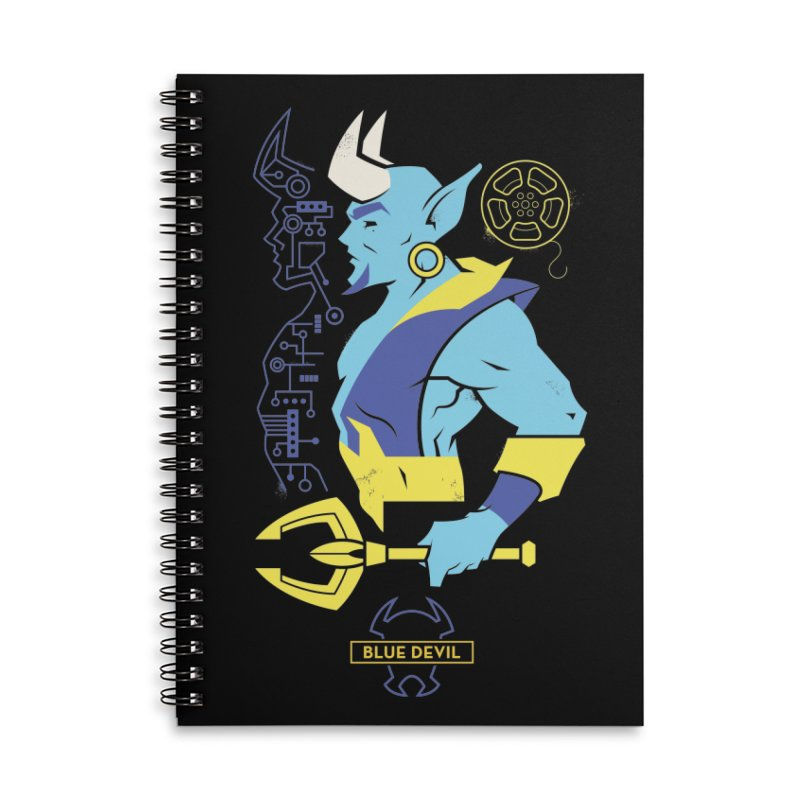 Blue Devil - DC Superhero Profiles Accessories Lined Spiral Notebook by daab Creative's Artist Shop
