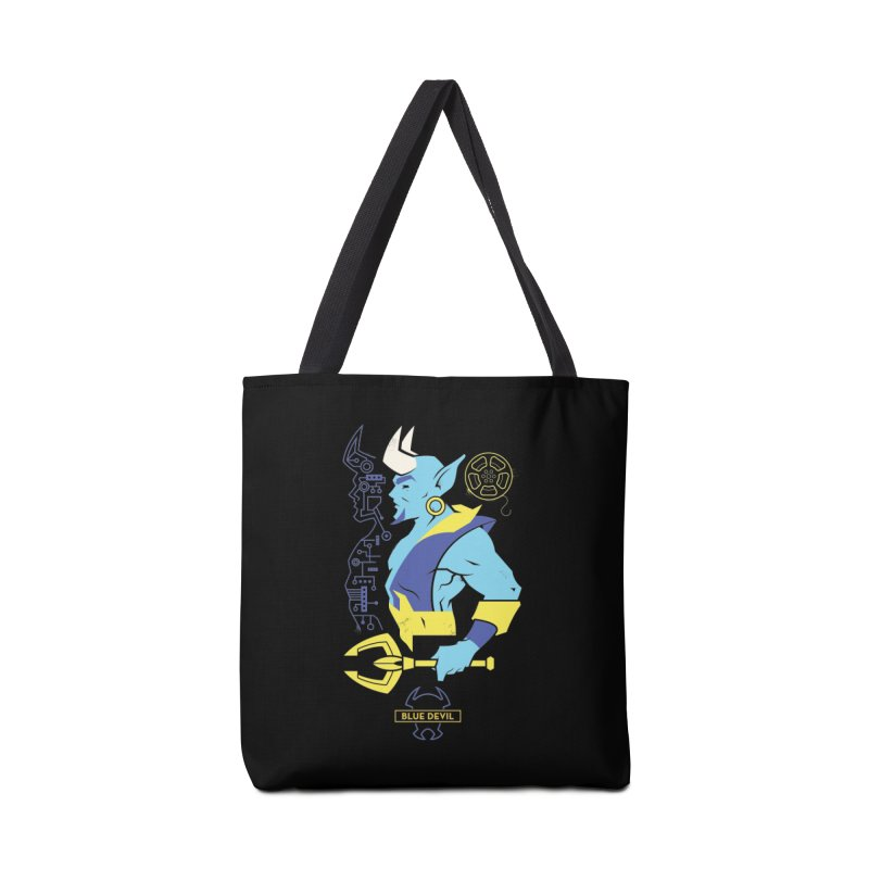 Blue Devil - DC Superhero Profiles Accessories Tote Bag Bag by daab Creative's Artist Shop