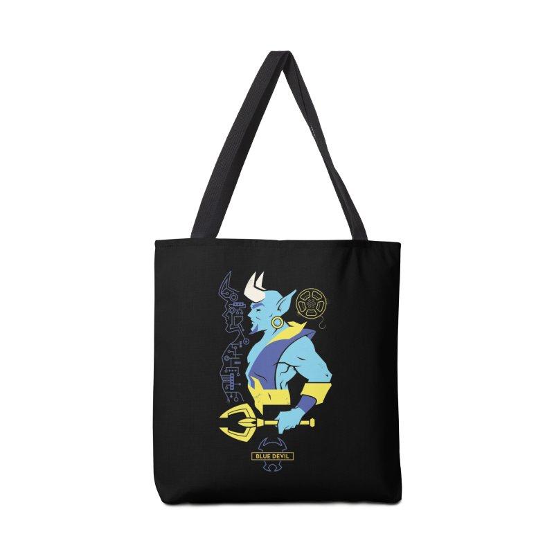 Blue Devil - DC Superhero Profiles Accessories Bag by daab Creative's Artist Shop