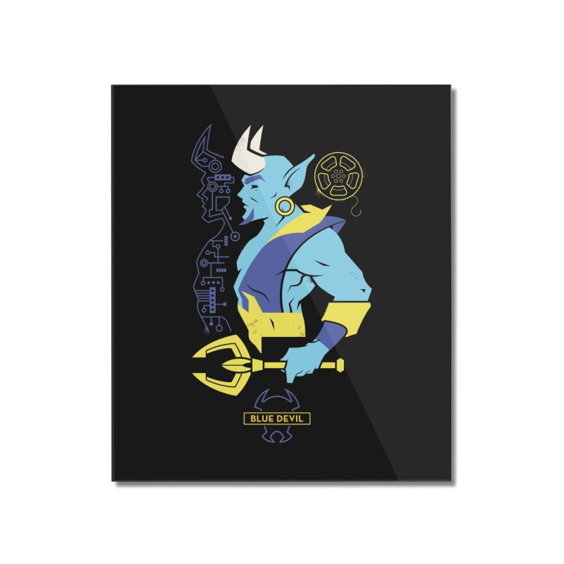 Blue Devil - DC Superhero Profiles Home Mounted Acrylic Print by daab Creative's Artist Shop