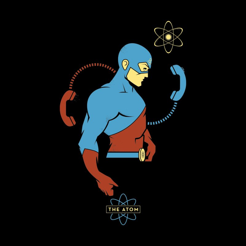 The Atom - DC Superhero Profile Women's V-Neck by daab Creative's Artist Shop