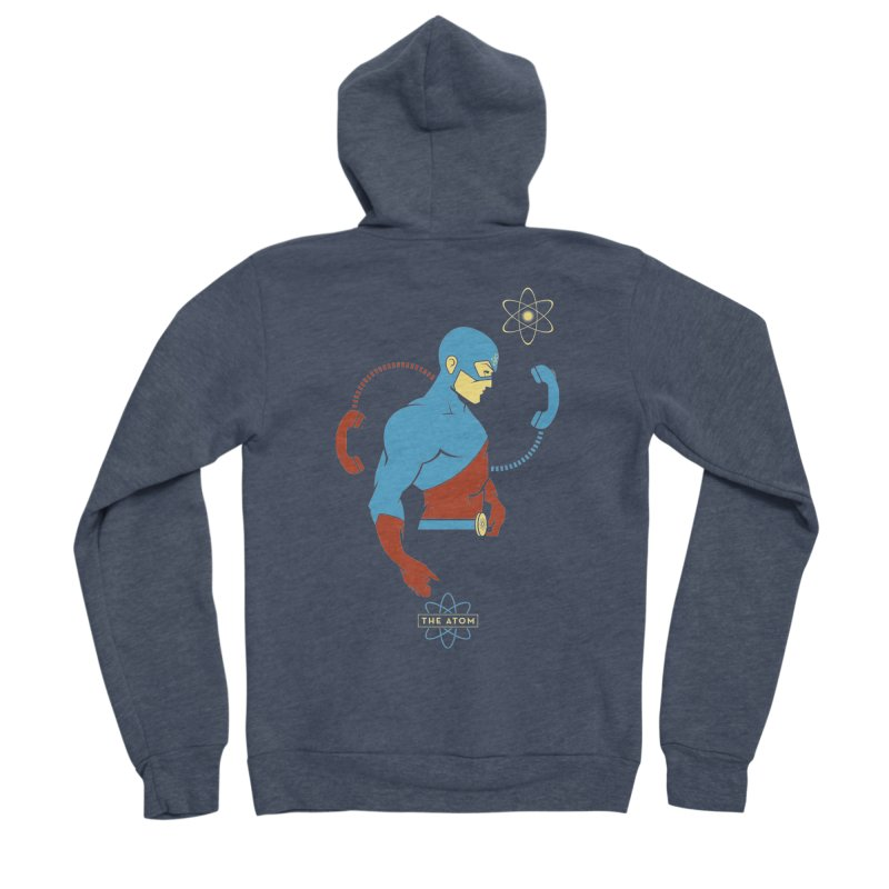 The Atom - DC Superhero Profile Men's Sponge Fleece Zip-Up Hoody by daab Creative's Artist Shop