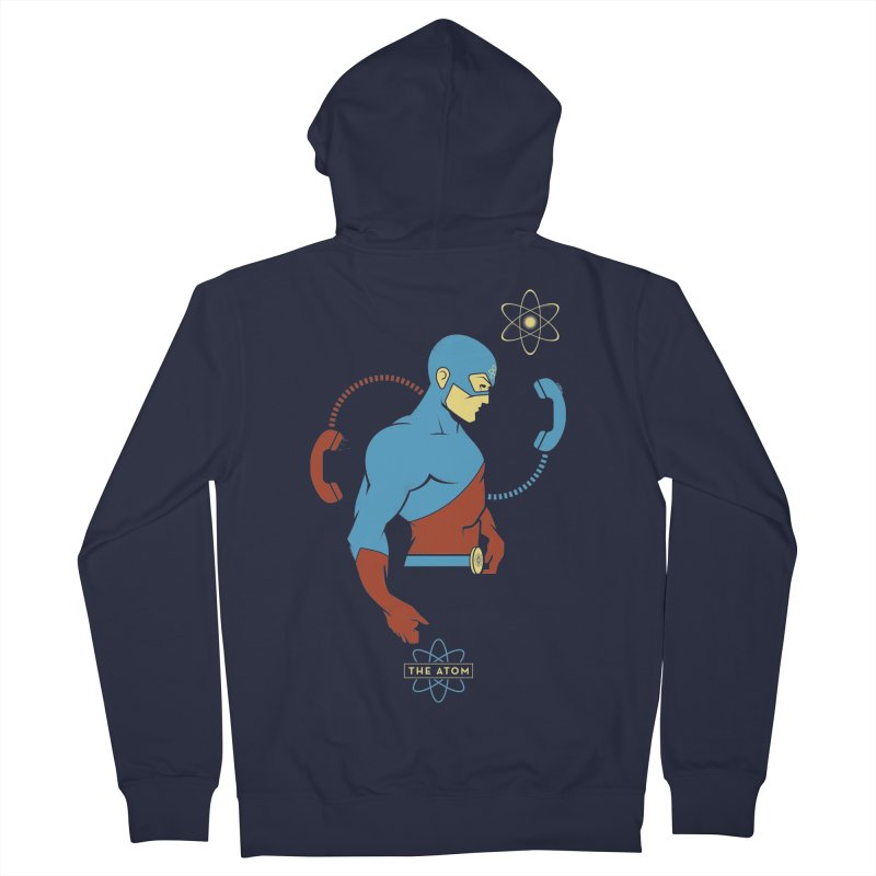 The Atom - DC Superhero Profile Men's French Terry Zip-Up Hoody by daab Creative's Artist Shop