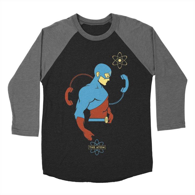 The Atom - DC Superhero Profile Men's Baseball Triblend Longsleeve T-Shirt by daab Creative's Artist Shop
