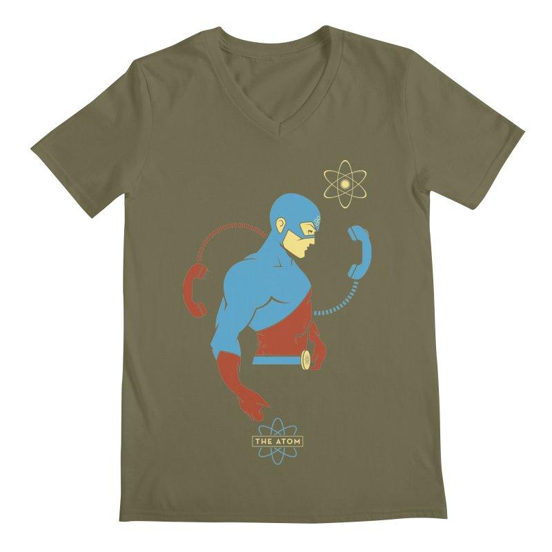 The Atom - DC Superhero Profile Men's V-Neck by daab Creative's Artist Shop