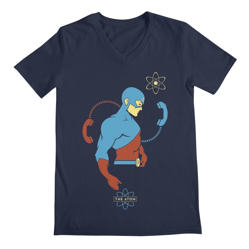 The Atom - DC Superhero Profile Men's Regular V-Neck by daab Creative's Artist Shop