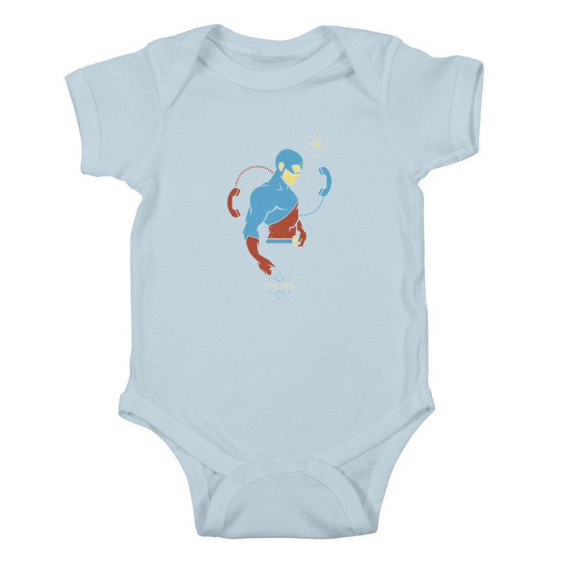 The Atom - DC Superhero Profile Kids Baby Bodysuit by daab Creative's Artist Shop