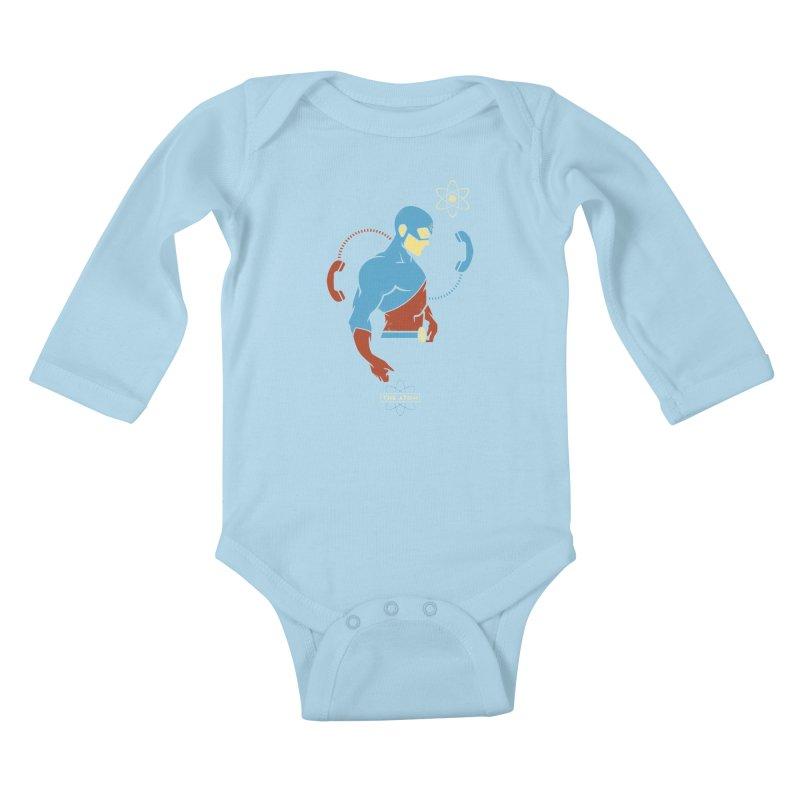 The Atom - DC Superhero Profile Kids Baby Longsleeve Bodysuit by daab Creative's Artist Shop